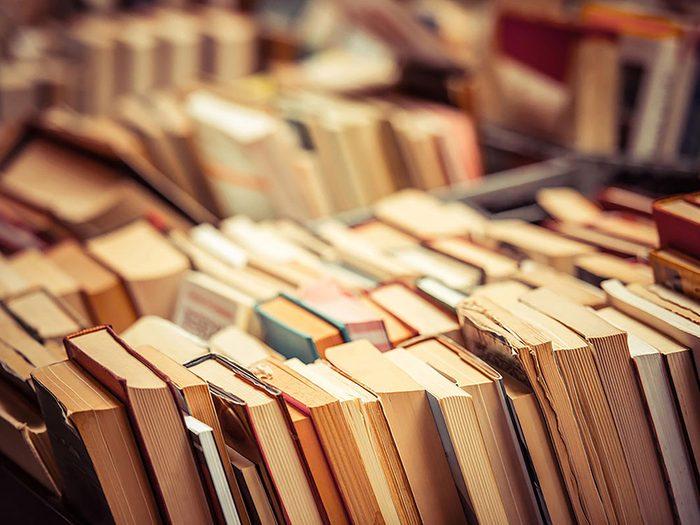 On peut désencombrer sa maison en se séparant livres non lus.