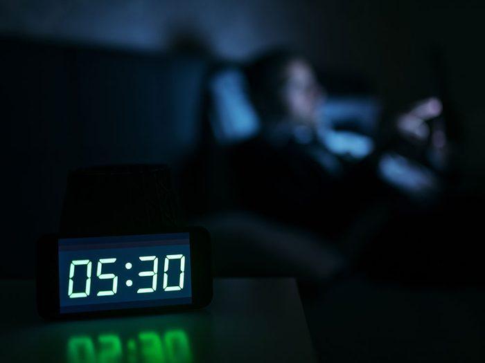 Un trouble du rythme circadien peut vous donner de la difficulté à dormir.