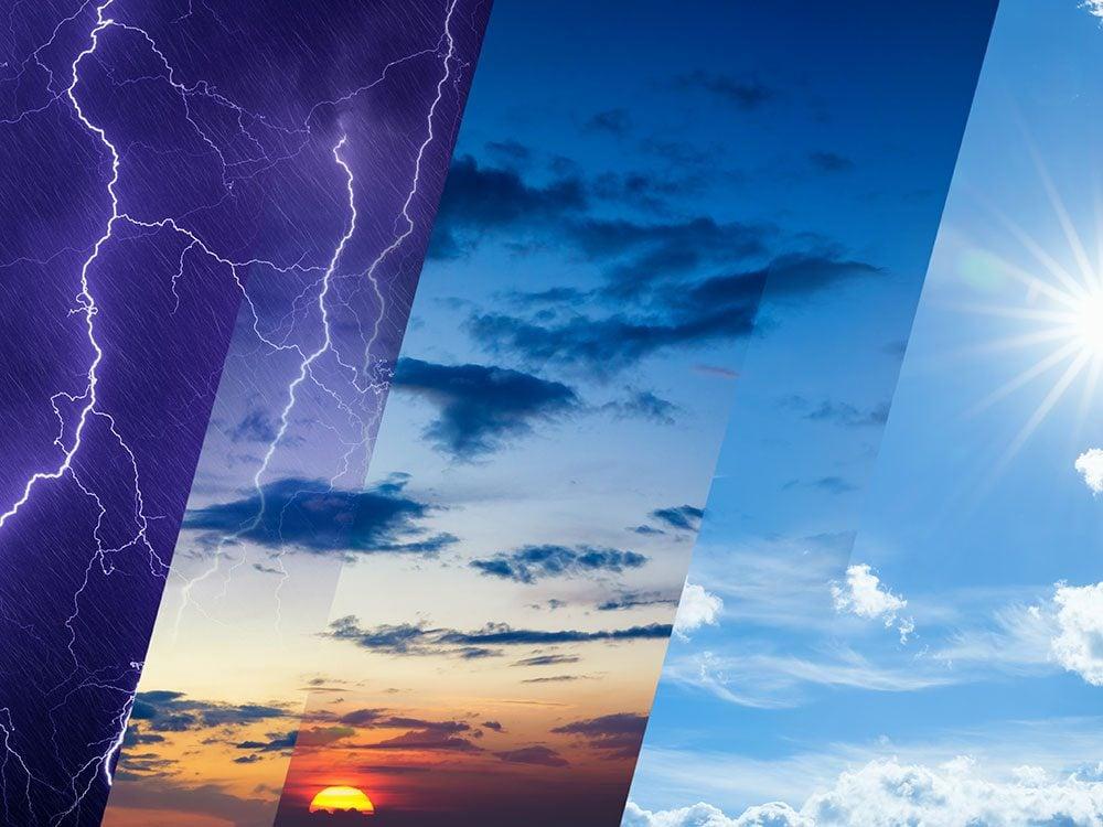 Les prévisions météo sur le long terme.