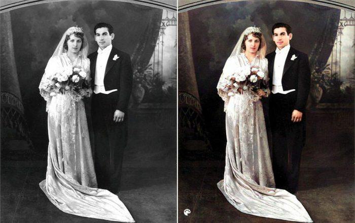 La photo colorisée des grands-parents paternels de Kim Kardashian.
