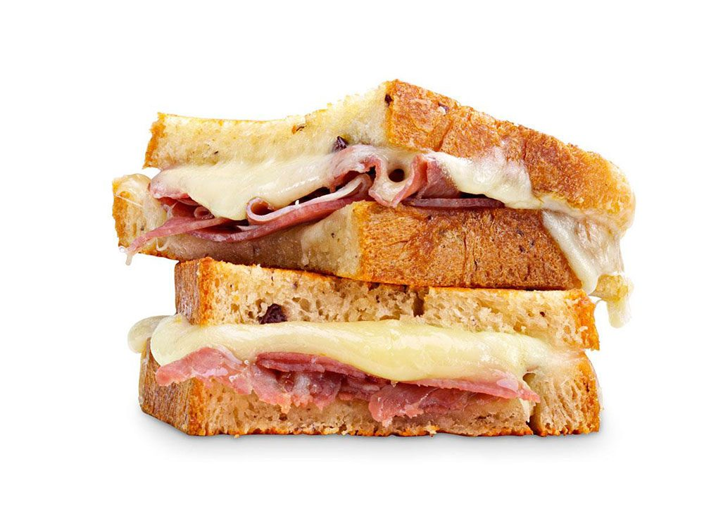 Grilled Cheese au prosciutto.