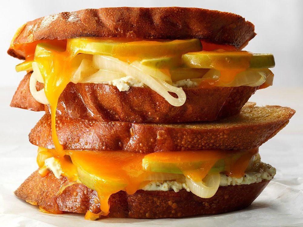 Grilled cheese de luxe réinventé.