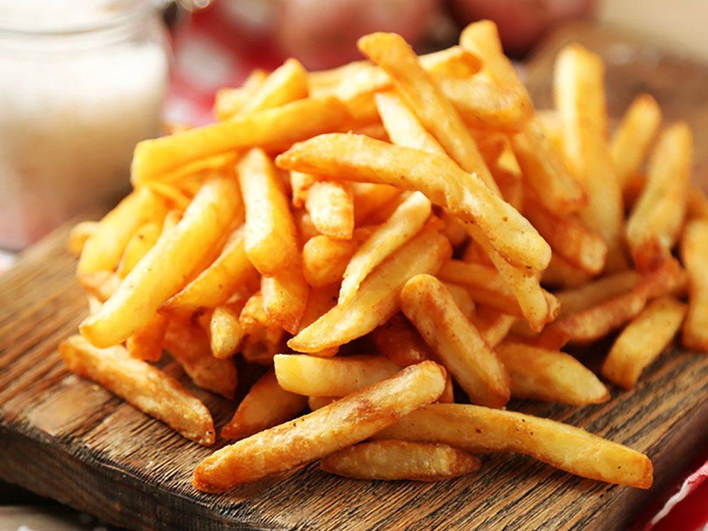 Évitez de rapporter des aliments huileux en tant que restes de table.