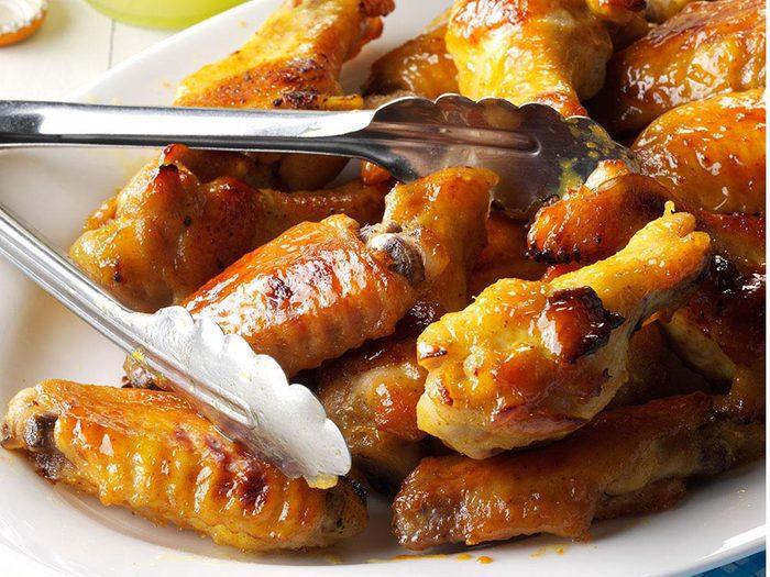 Évitez de rapporter le poulet en tant que reste de table.
