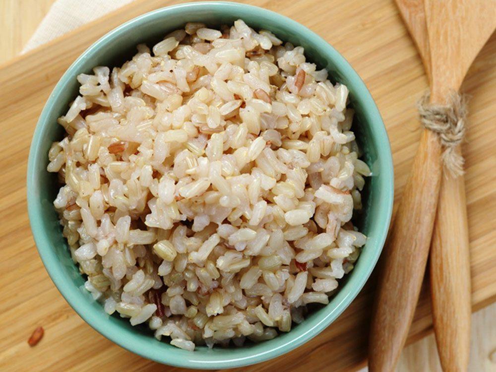 Évitez de rapporter le riz en tant que reste de table.