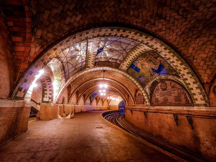 La station de métro du City Hall à New York.