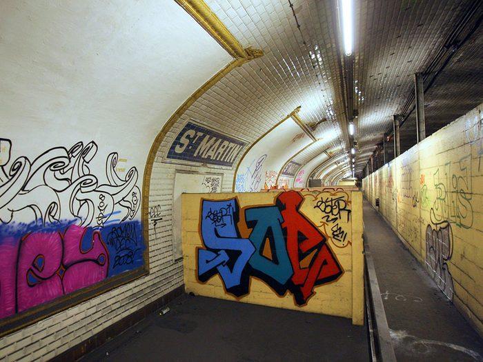La station de métro Saint-Martin à Paris.