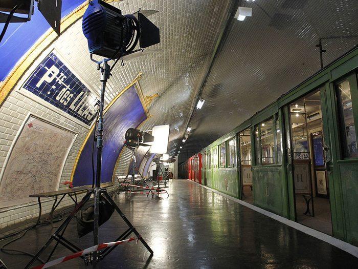 La station de métro Porte des Lilas à Paris.