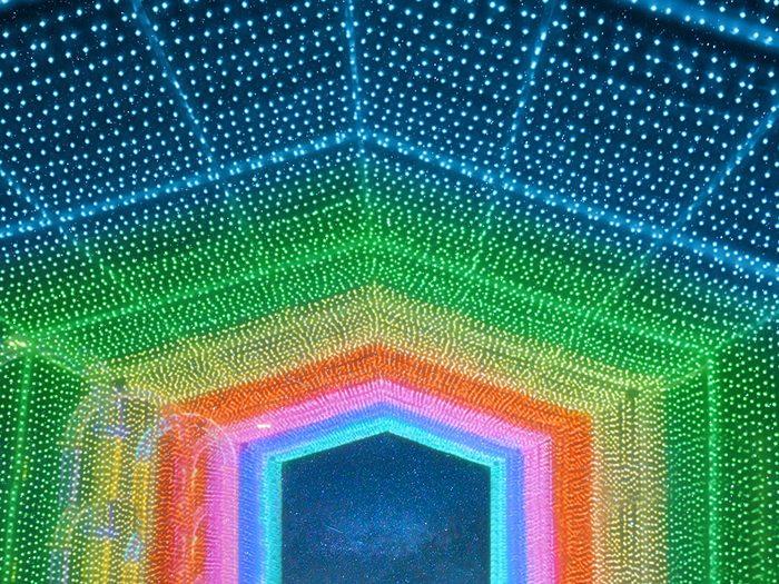 Le tunnel de couleurs d'Illumi.