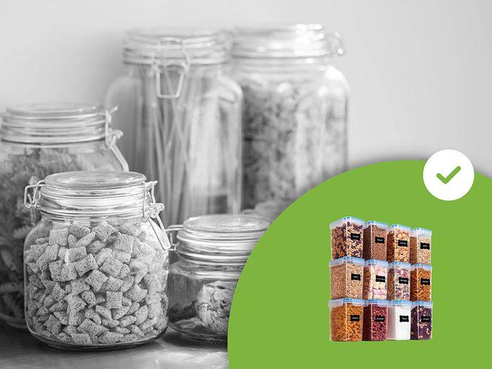 Les contenants de rangement ronds font partie des accessoires de rangement que les experts en organisation n'achètent jamais.