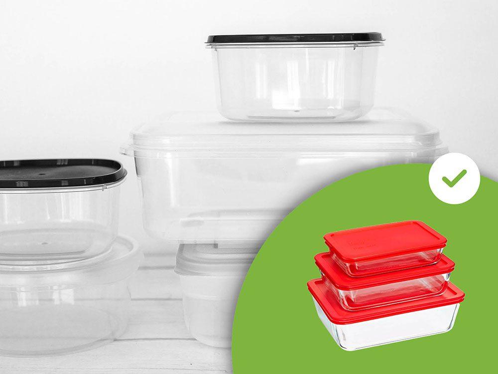Les contenants dépareillés pour conserver les aliments font partie des accessoires de rangement que les experts en organisation n'achètent jamais.