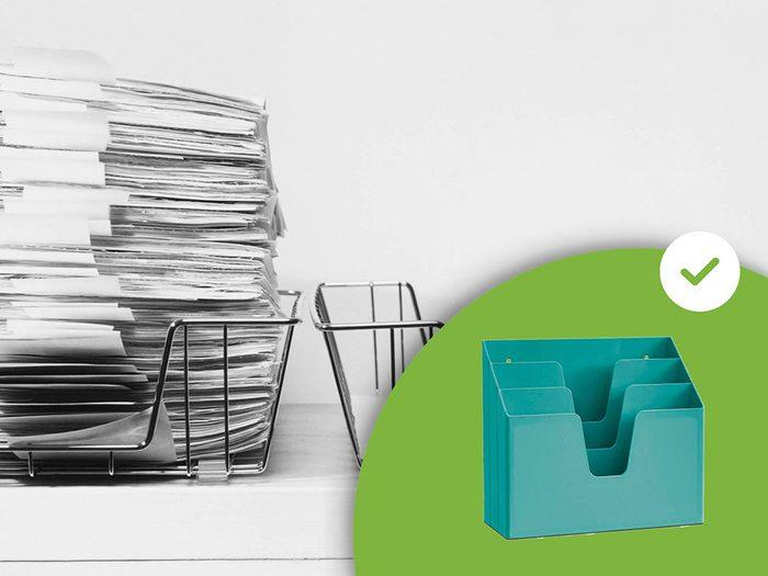Les plateaux à papier font partie des accessoires de rangement que les experts en organisation n'achètent jamais.