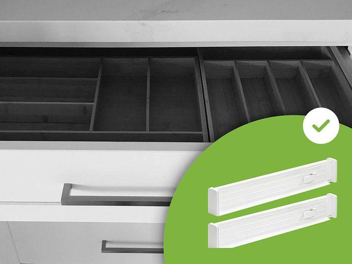 Les organisateurs de tiroirs font partie des accessoires de rangement que les experts en organisation n'achètent jamais.