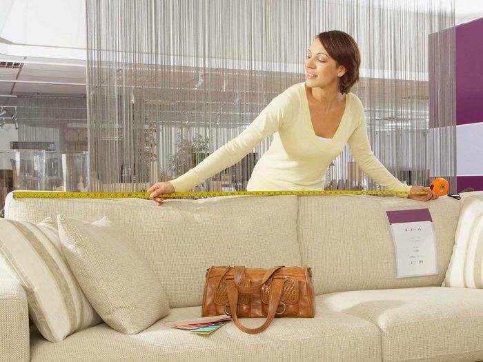 Pensez à mesurer pour votre aménagement intérieur.