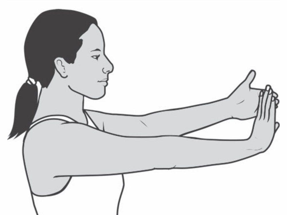 «L'extension du poignet sert à étirer le nerf au maximum pour l'inciter à glisser en douceur dans le canal carpien.»