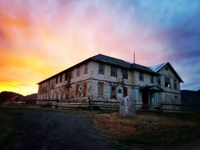 Le Tranquille Sanatorium à Kamloops en Colombie-Britannique fait partie des endroits hantés au Québec et au Canada.
