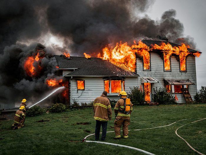 Les risques d'incendie domestique.