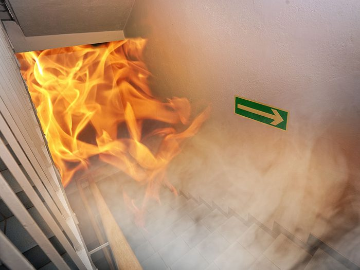 Préparez un plan d'évacuation en cas d'incendie.