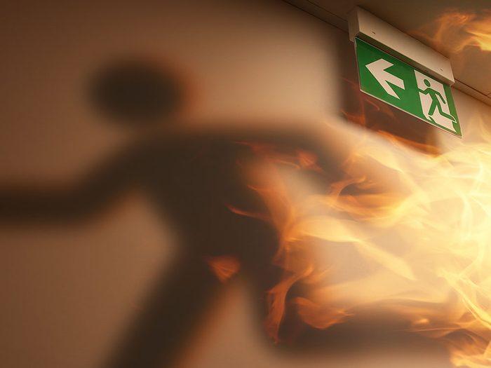 Moins de temps pour fuir lors d'un incendie.