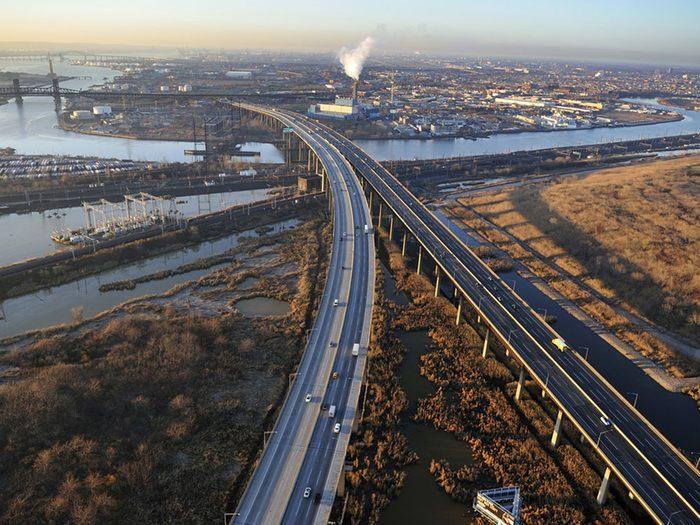 Des observations d'ovnis ont eu lieu au niveau de l'autoroute du New Jersey en 2001.
