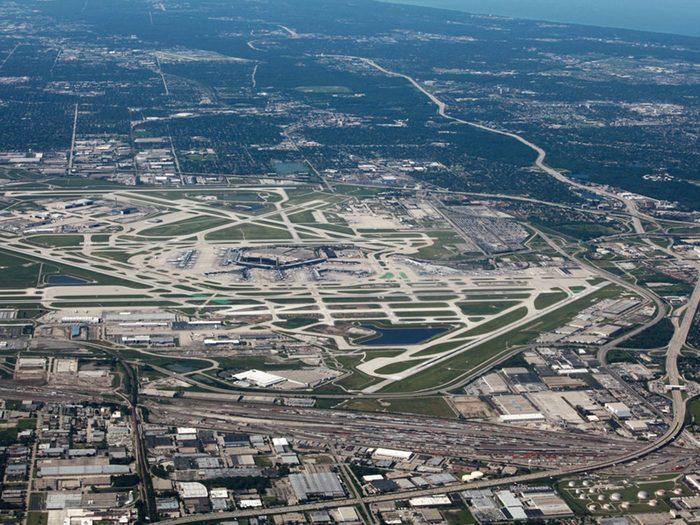 Des observations d'ovnis ont eu lieu vers l'aéroport international O'Hare de Chicago en 2006.