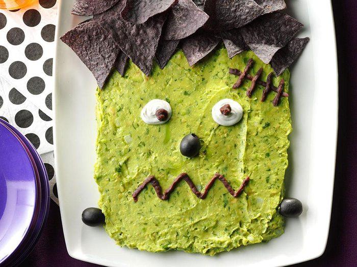 Frankenguac ou guacamole monstrueux.