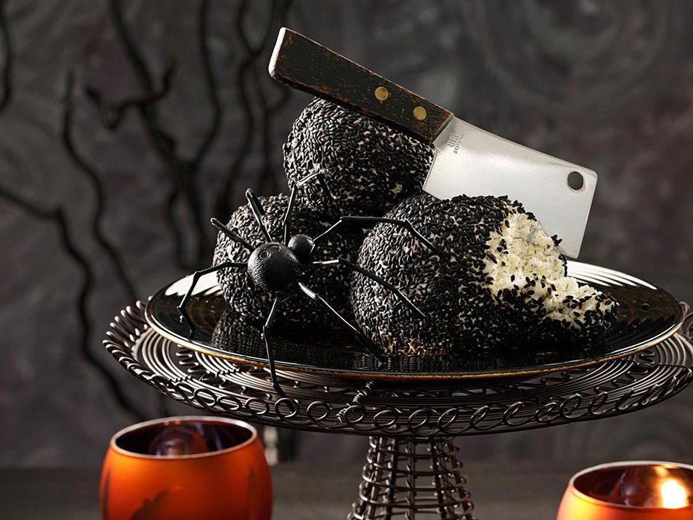Recettes d'Halloween: des boules de terre.