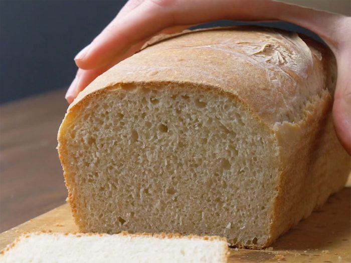 Recette de pain maison à faire sans machine.