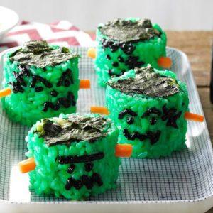 Recette de sushi à la Frankenstein