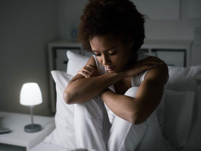 L'insomnie est l'un des symptômes de la dépression nerveuse.