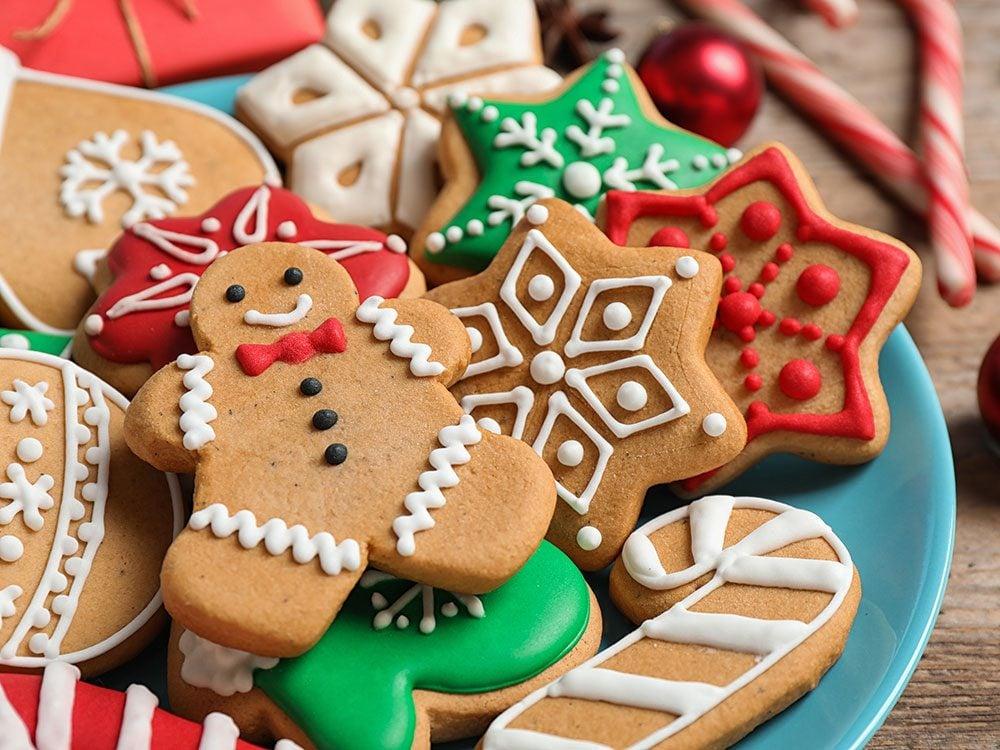 Des biscuits au sucre traditionnels végétaliens pour les fêtes.