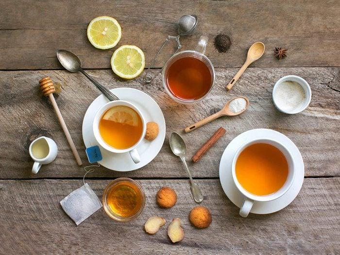 Comment préparer le thé: faites attention de ne pas trop l'infuser.