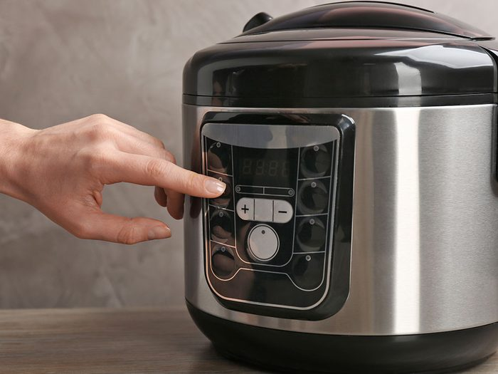 Réduire le temps de cuisson pour cuisiner à la mijoteuse.