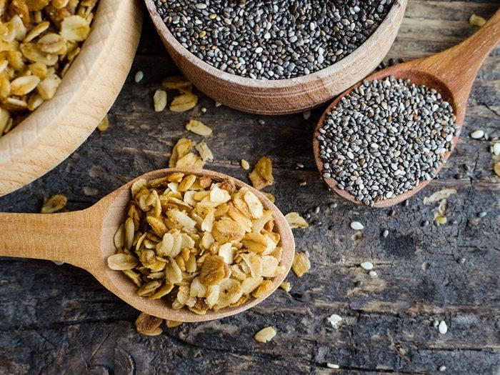 Des recettes de gruau sans cuisson aux graines de chia (que les nutritionnistes adorent!).