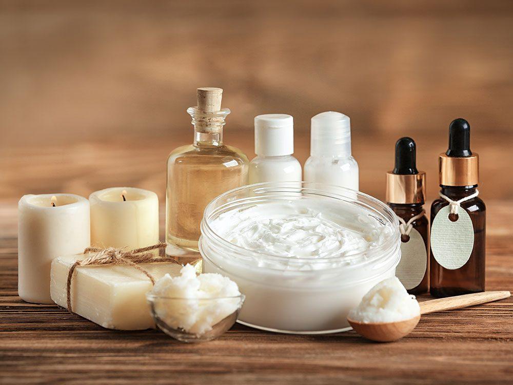 Produits de beauté maison: le riche beurre corporel.