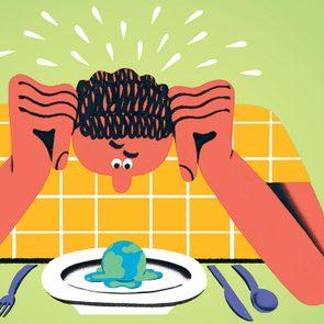 Changements climatiques: bien manger pour sauver la planète.