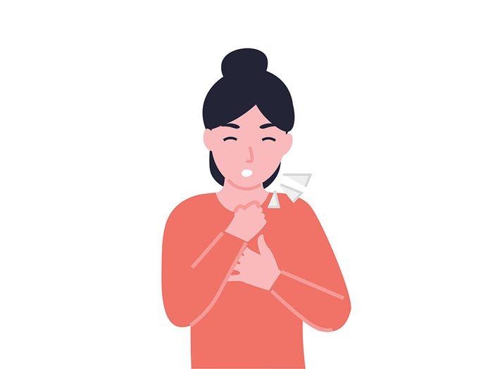 Sauver une vie: que faire quand vous êtes seul et que vousvous étouffez?