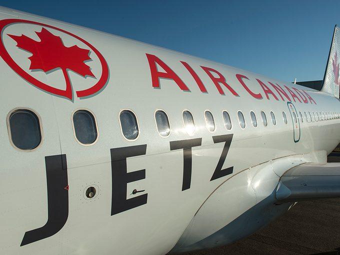L'avion Jetz d'Air Canada.