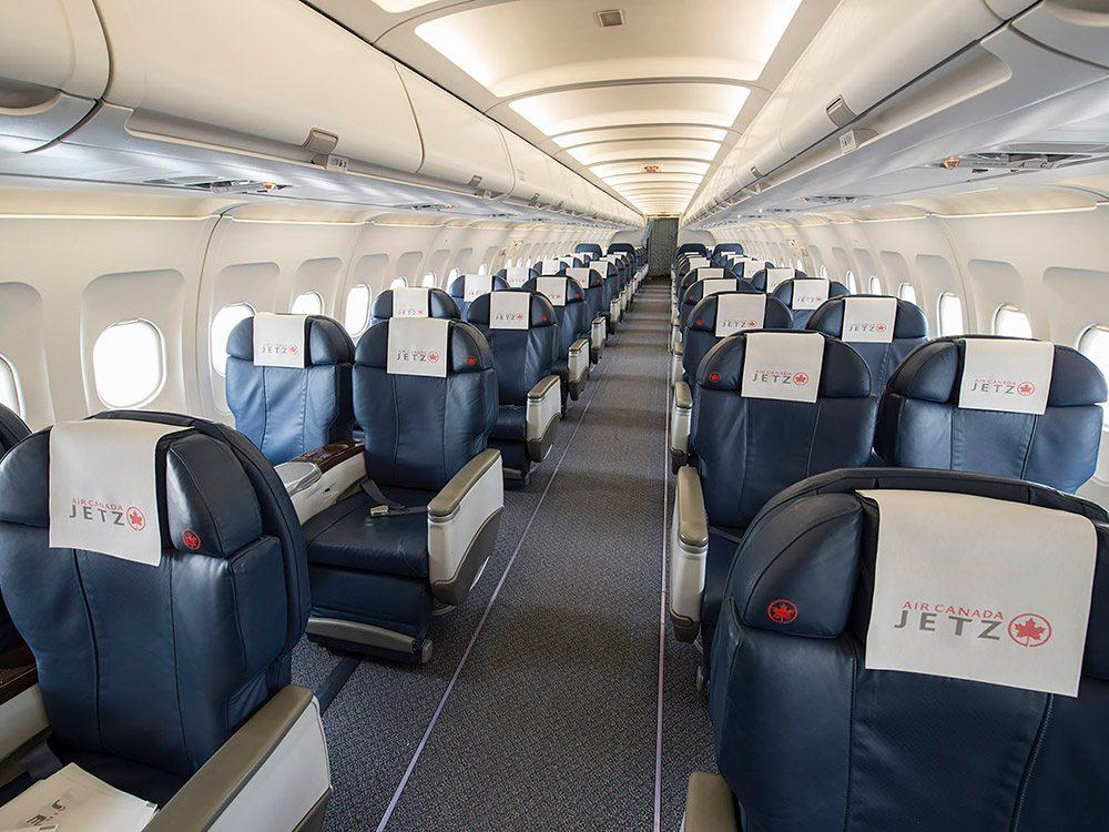 Jetz Cabin Interior = Jetz, aménagement cabine.
