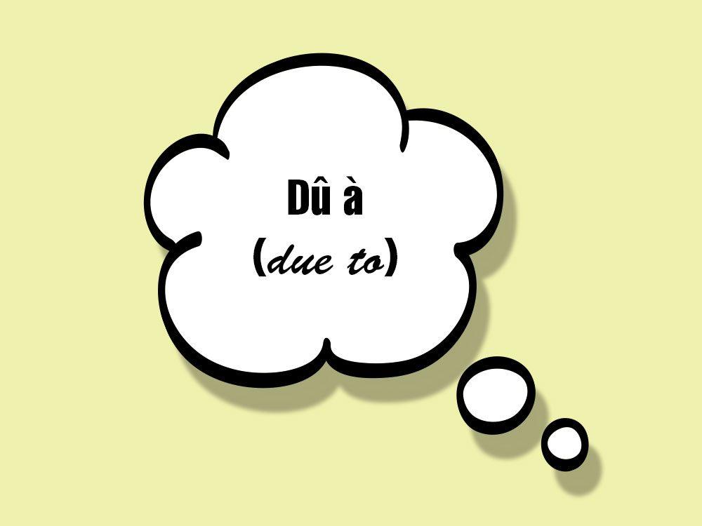 «Dû à (due to)» fait partie des anglicismes courants.