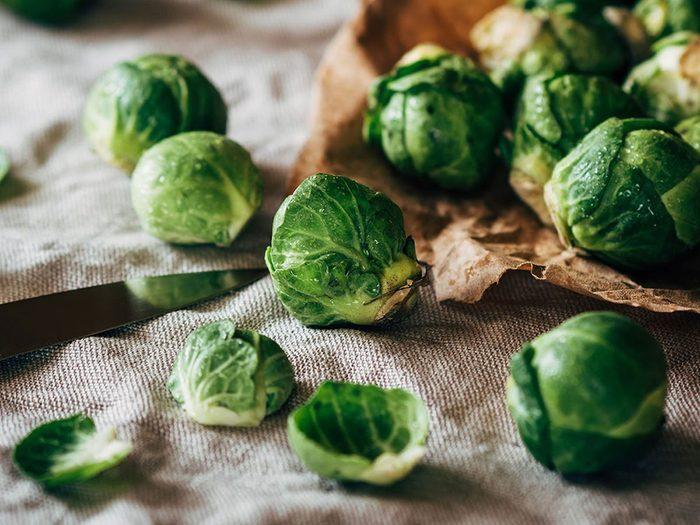 Le chou de Bruxelles peut réduire l'inflammation dans votre organisme.