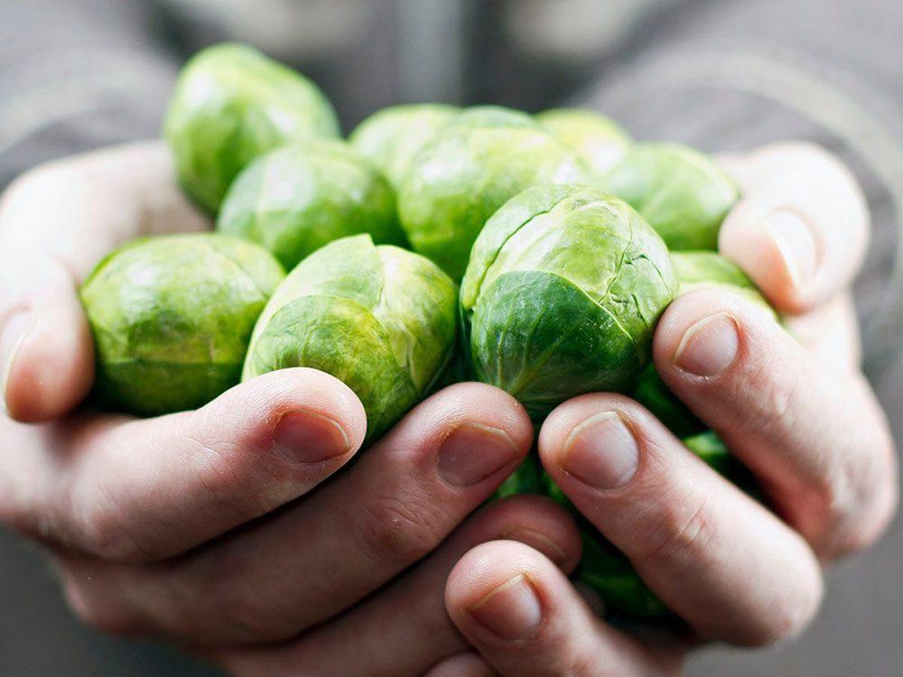 Les choux de Bruxelles améliorent la santé intestinale.