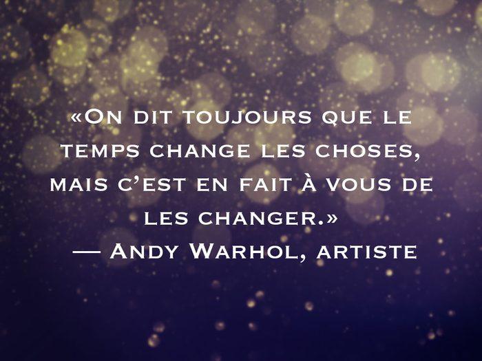 L'une des phrases d'Andy Warhol fait partie des 50 citations inspirantes pour le Nouvel An 2021.
