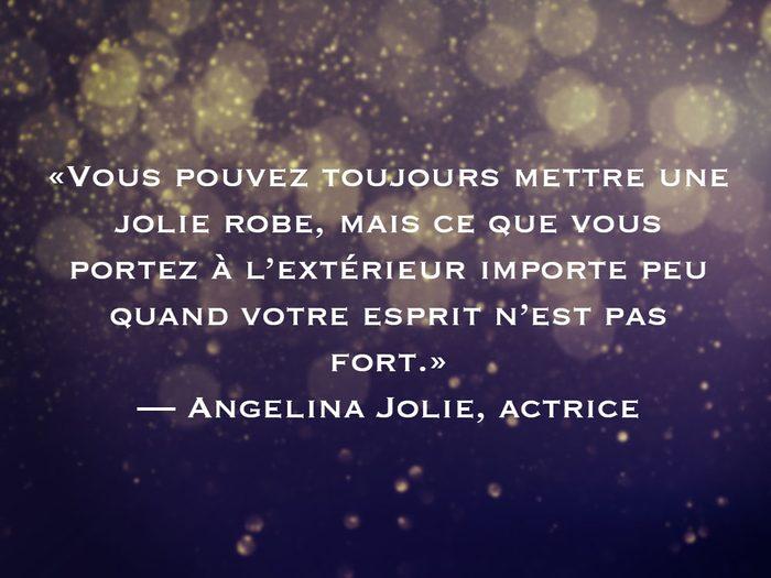 L'une des phrases d'Angelina Jolie fait partie des 50 citations inspirantes pour le Nouvel An 2021.