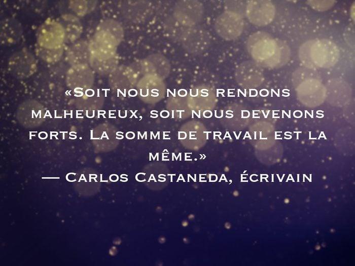 L'une des phrases de Carlos Castaneda fait partie des 50 citations inspirantes pour le Nouvel An 2021.
