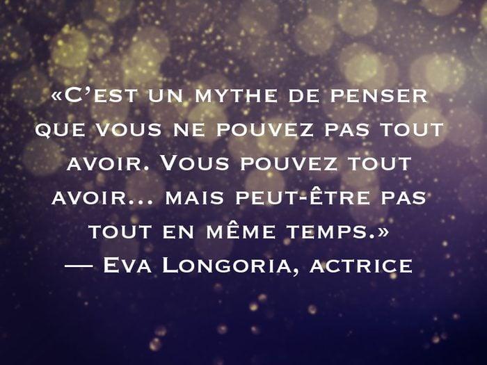 L'une des phrases d'Eva Longoria fait partie des 50 citations inspirantes pour le Nouvel An 2021.