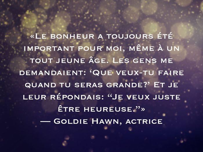 L'une des phrases Goldie Hawn fait partie des 50 citations inspirantes pour le Nouvel An 2021.
