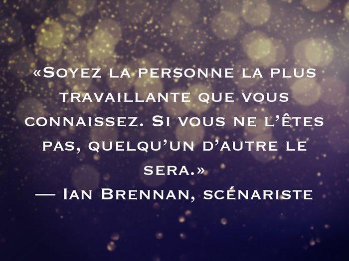 L'une des phrases de Ian Brennan fait partie des 50 citations inspirantes pour le Nouvel An 2021.