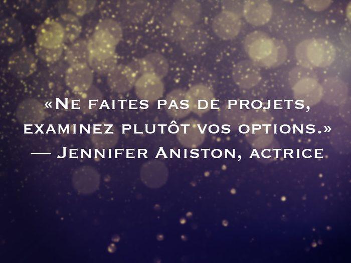 L'une des phrases de Jennifer Aniston fait partie des 50 citations inspirantes pour le Nouvel An 2021.