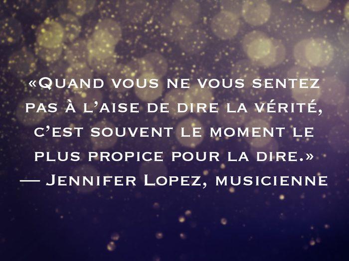 L'une des phrases de Jennifer Lopez fait partie des 50 citations inspirantes pour le Nouvel An 2021.